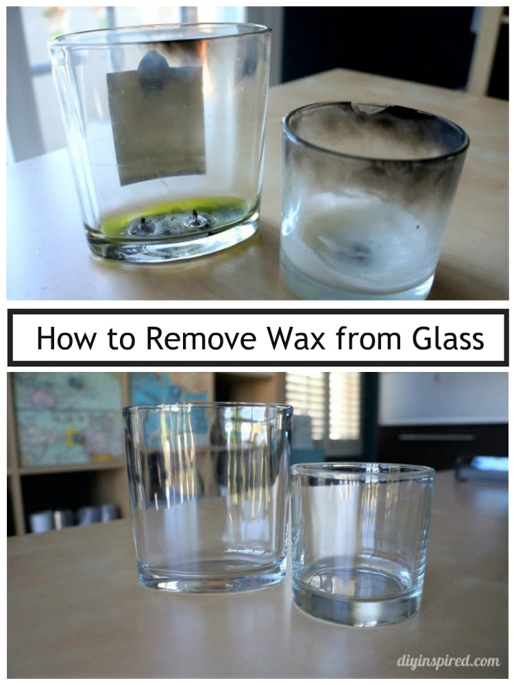 how to remove wax from glass diy inspired. Black Bedroom Furniture Sets. Home Design Ideas