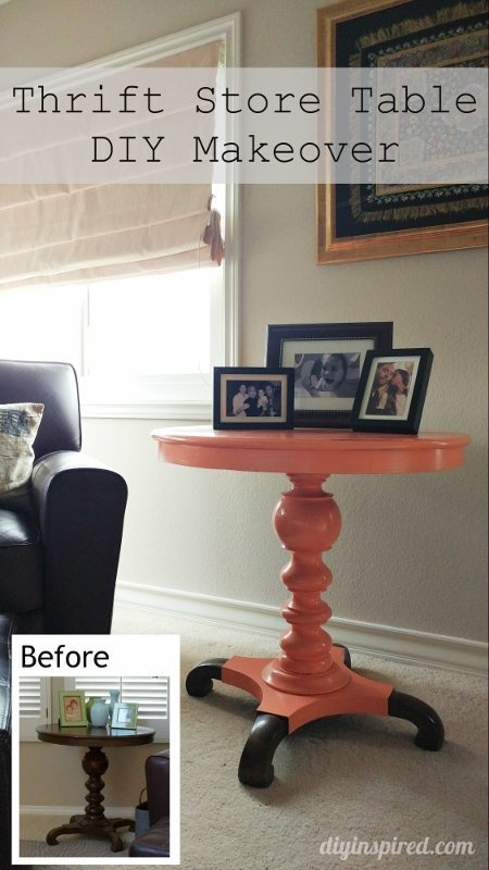 Thrift Store Table Makeover - DY Inspired