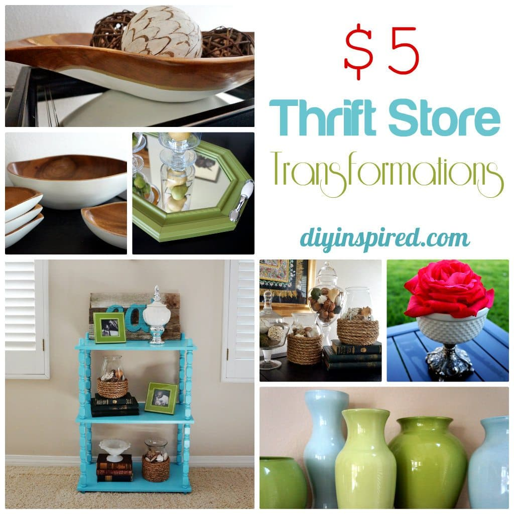 Five Dollar Thrift Store Transformations Diy Inspired