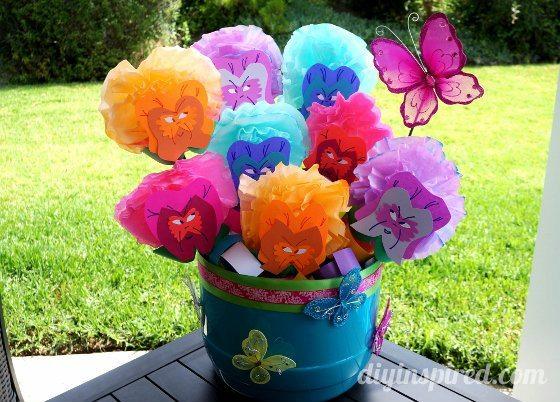 Alice In Wonderland Flowers DIY Inspired