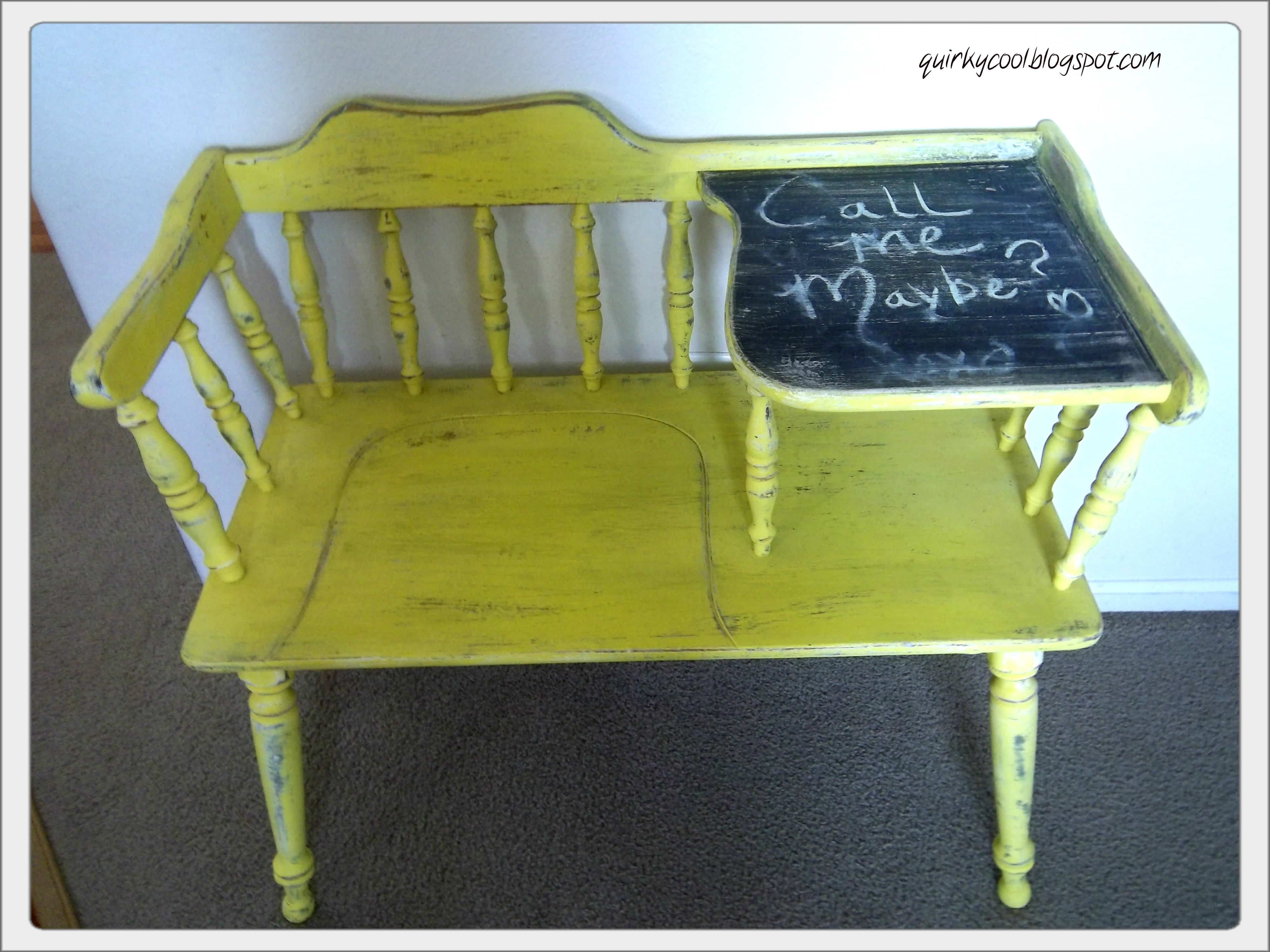 Upcycled Telephone Table 4