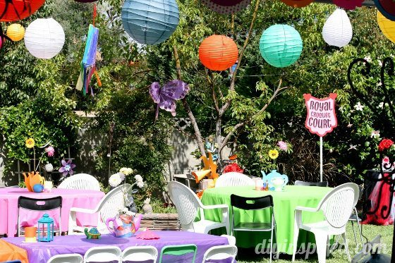 Alice In Wonderland First Birthday Party 18 Food Table Decorations