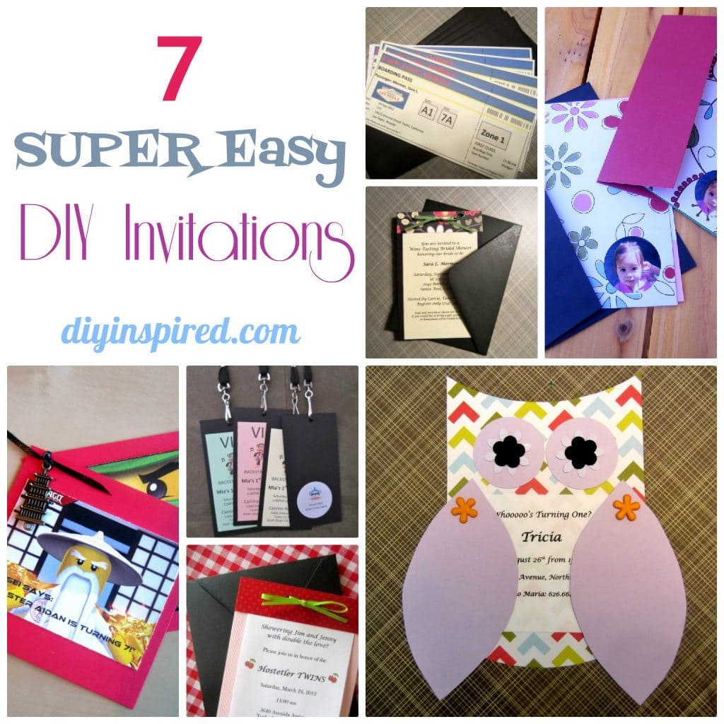 seven super easy diy invitations diy inspired