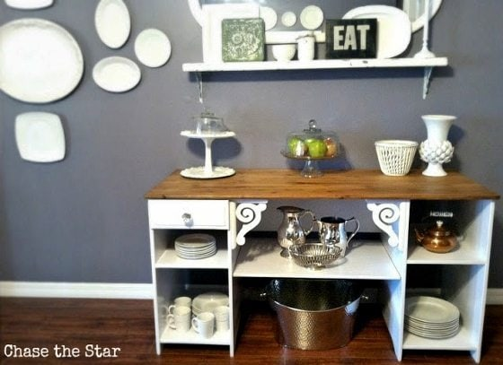 repurposed-desk-turned-buffet (4)