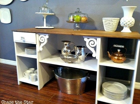 repurposed-desk-turned-buffet (5)
