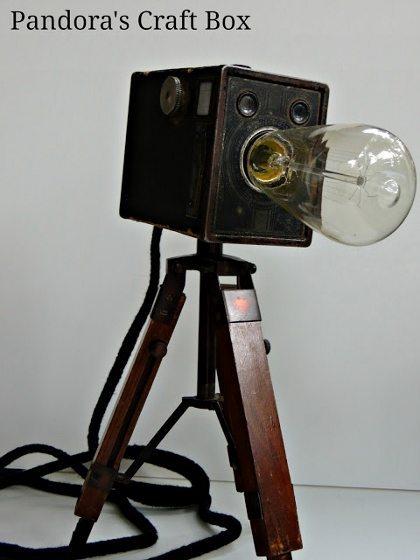 Repurposed Vintage Camera Table Lamps Diy Inspired