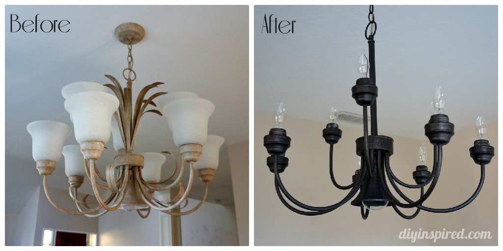 Chandelier-before-after