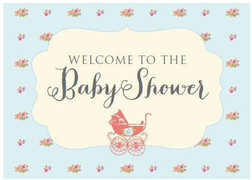 go back gallery for baby shower sign