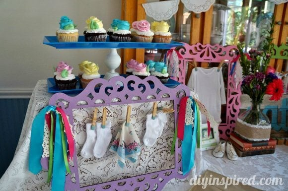 Vintage themed baby shower diy inspired for Baby shower decoration store