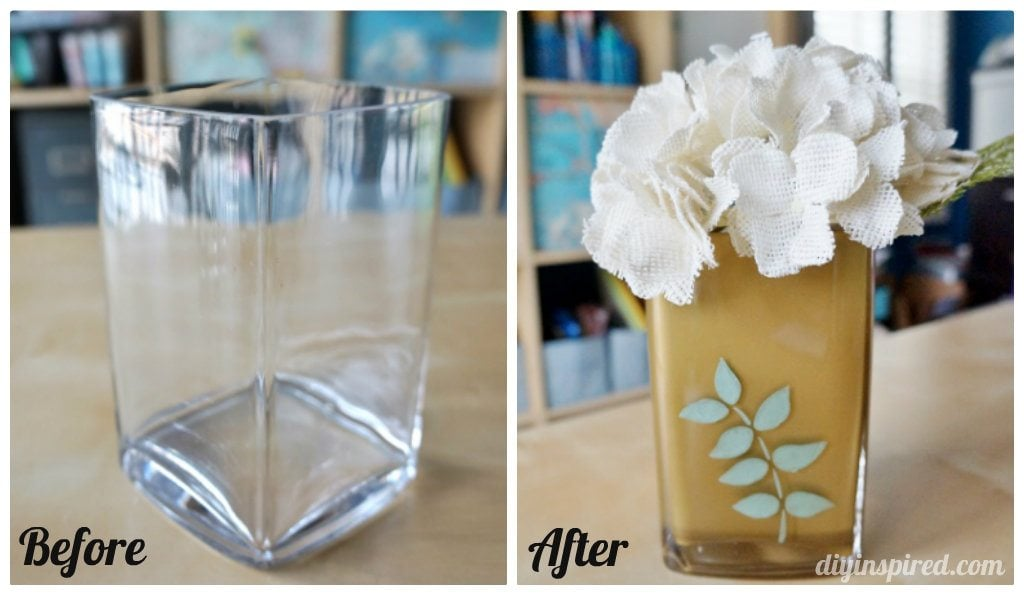 Before and After Painted Vase