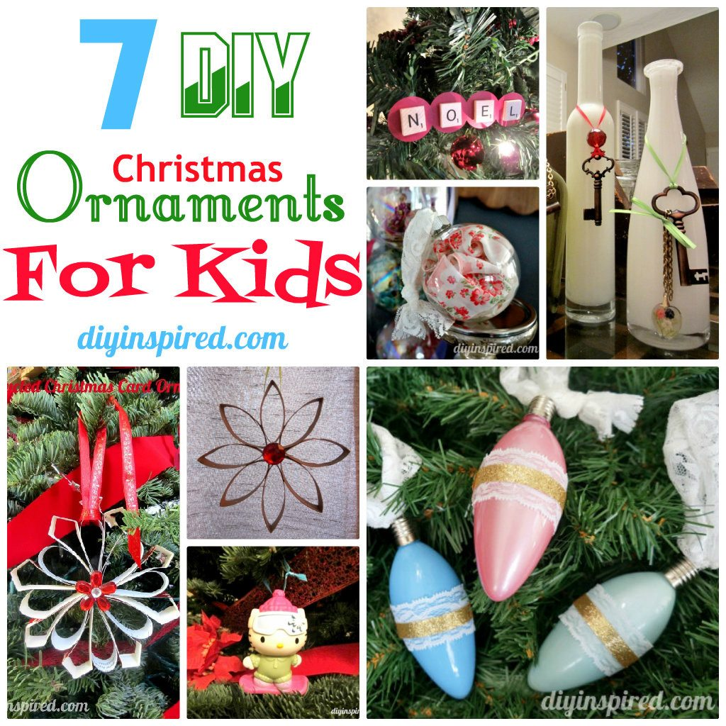 7 diy christmas ornaments for kids diy inspired for How to make homemade christmas ornaments