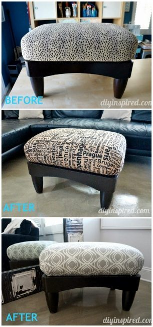 Thrift Store Ottoman Makeover