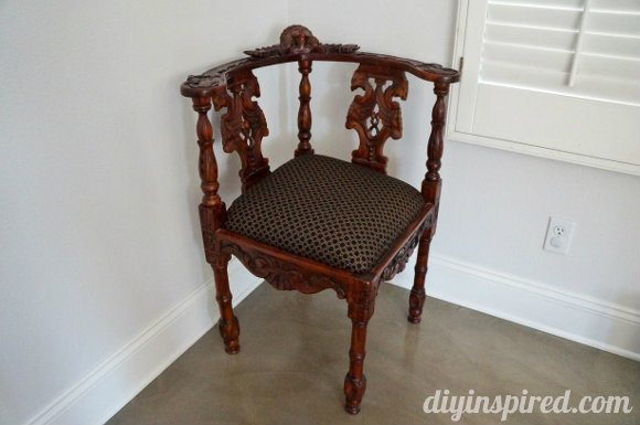 antique corner chair update diy inspired