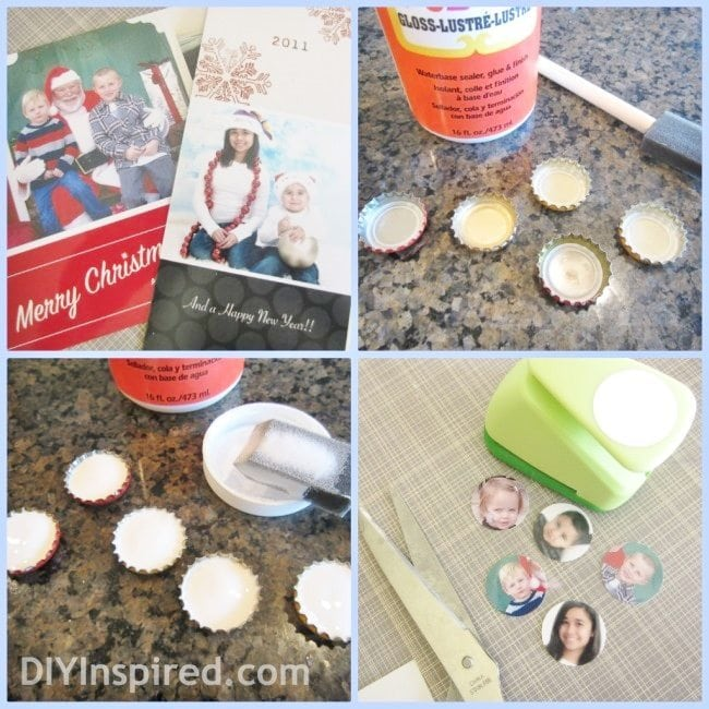 recycled-christmas-card-bottle-cap-magnets (3)