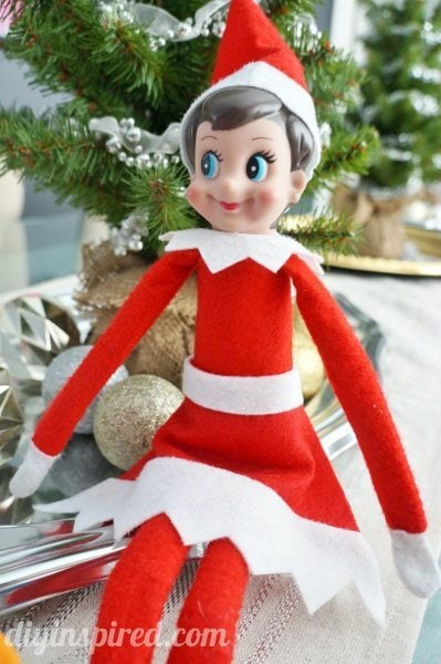 No sew elf on the shelf skirt diy inspired for Elf shelf craft show