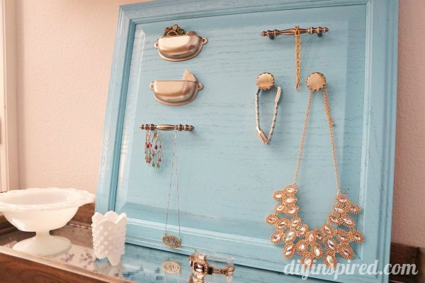 Repurposed Cabinet Door Turned Jewelry Organizer Display