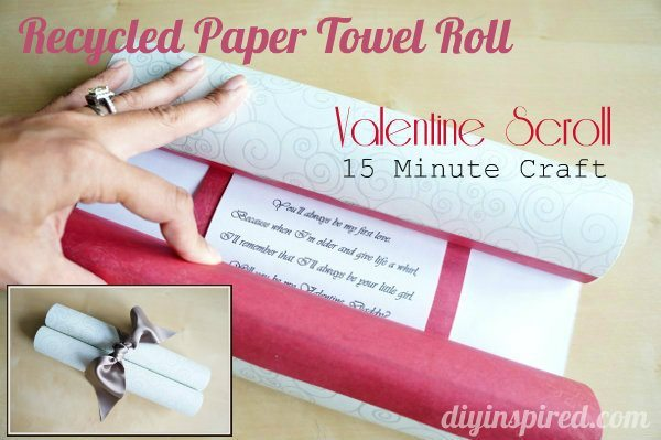 15 Minute Craft Paper Towel Roll Valentine Scroll Diy Inspired