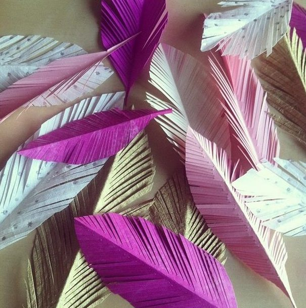Paper Feather Craft Ideas Diy Inspired