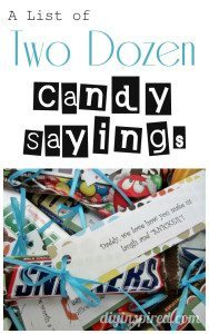A List of 2 Dozen Candy Sayings