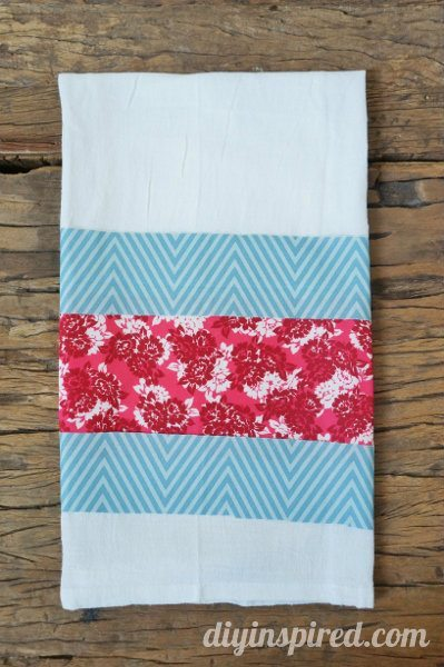 No Sew Patriotic Kitchen Towel