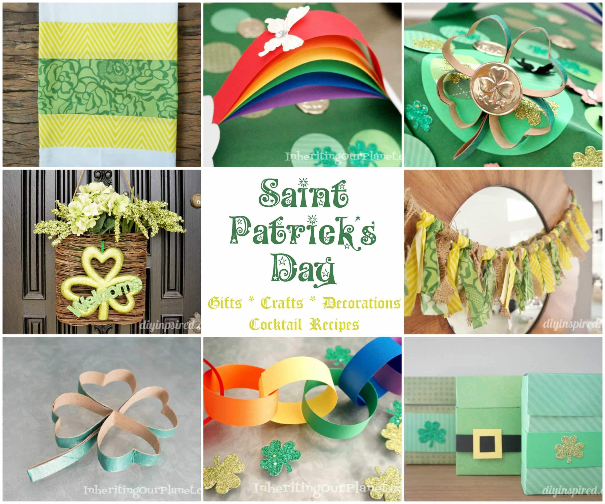 A dozen st patrick s day ideas diy inspired for Homemade st patricks day decorations