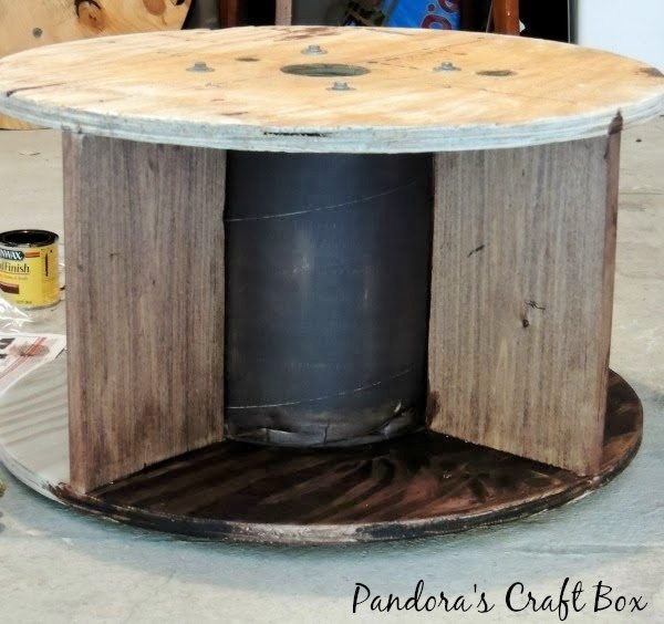 Repurposed wooden cable spool diy inspired for Wooden wire spool ideas