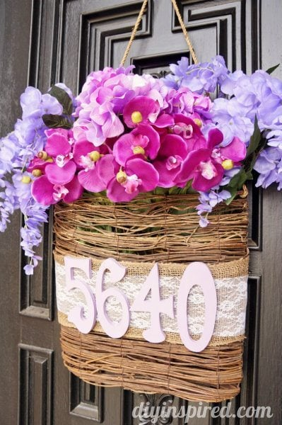 Radiant Orchid Diy Spring Door Decoration Diy Inspired