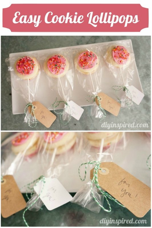 Easy Store Bought Cookie Lollipops