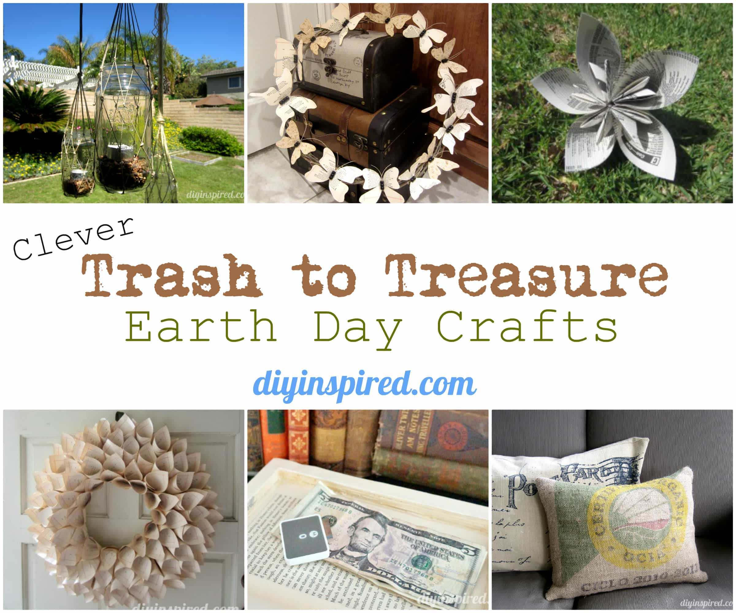 clever trash to treasure earth day crafts diy inspired. Black Bedroom Furniture Sets. Home Design Ideas