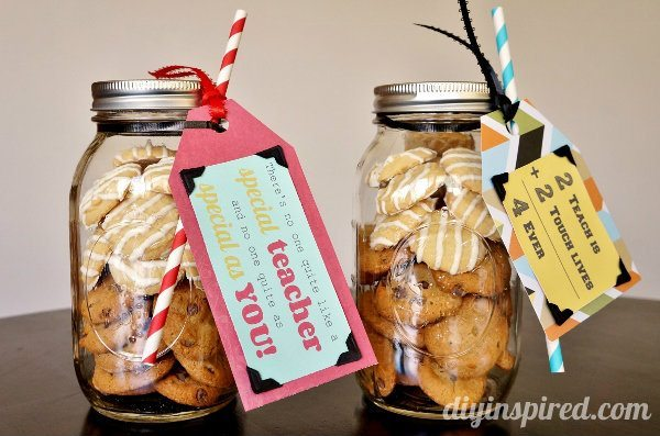 cookie mason jar teacher appreciation gift 2 - Christmas Cookie Gift Ideas