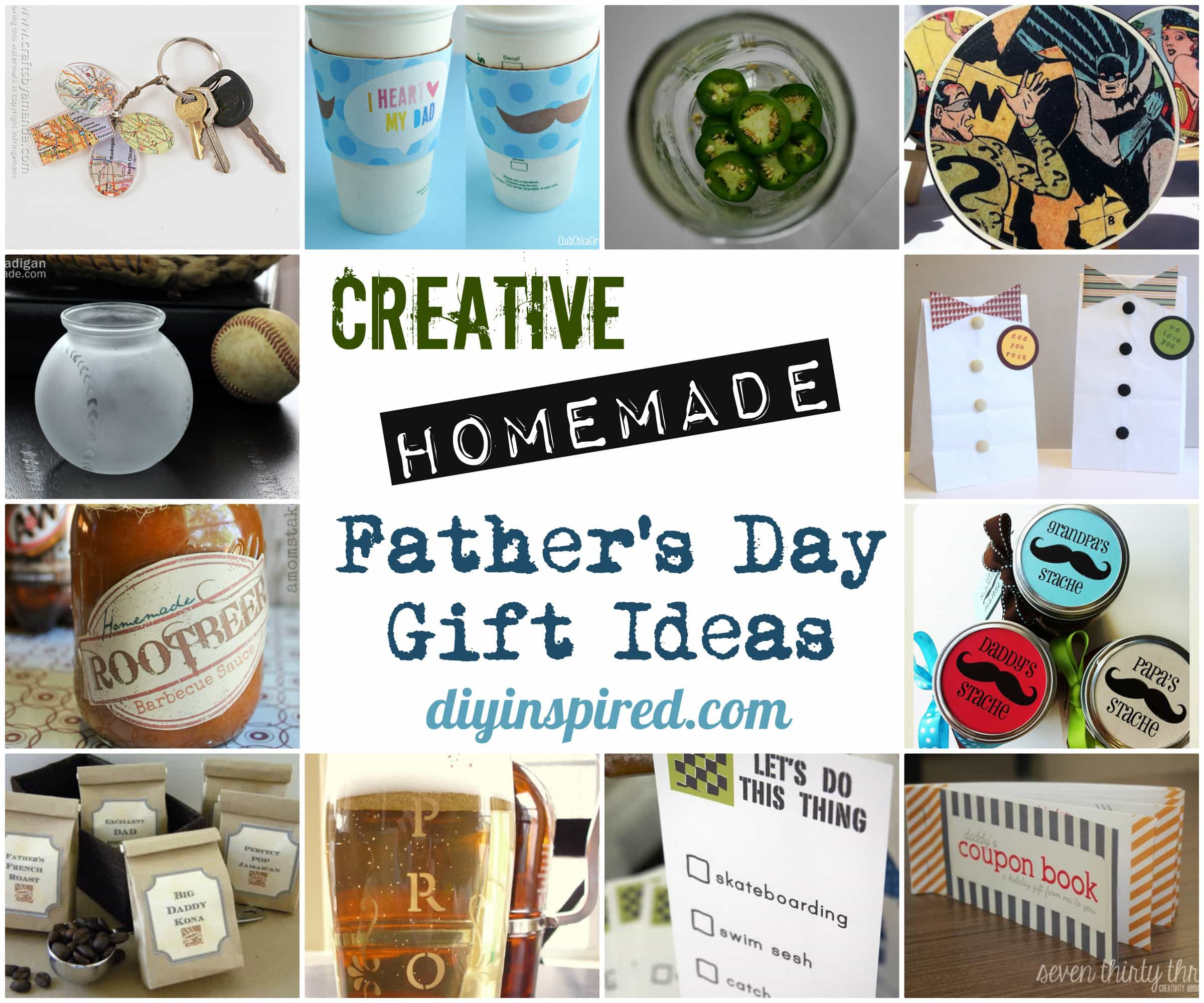 Creative Homemade Father\'s Day Gift Ideas - DIY Inspired