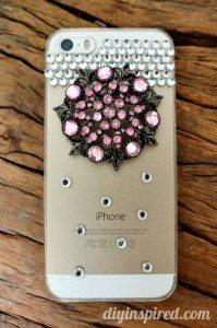 Repurposed Brooch DIY Cell Phone Case