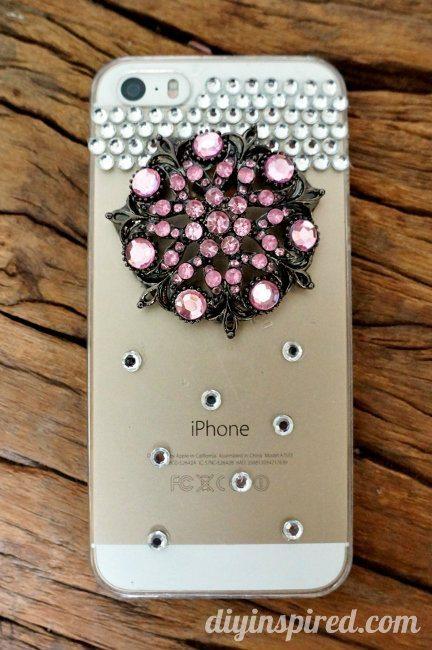 Repurposed Brooch Diy Cell Phone Case Diy Inspired
