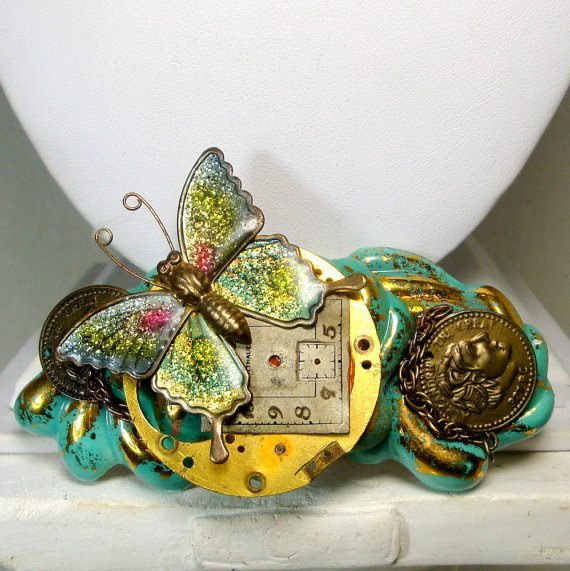 Steampunk Butterfly Brooch