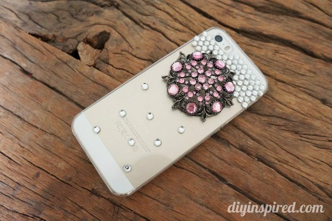 Upcycled Brooch DIY Cell Phone Case