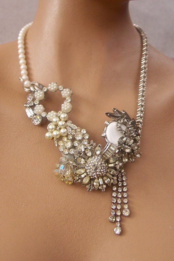 Vintage Jewelry Statement Necklace
