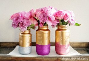 gold and glitter mason jars (1)