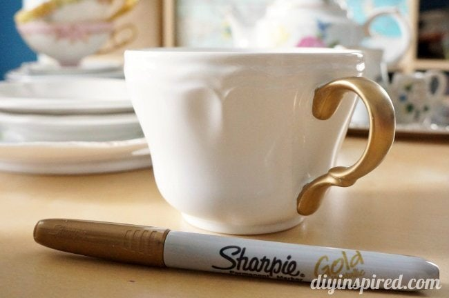 Easy upcycled thrift store tea cups diy inspired sharpie tea cup fandeluxe Epub
