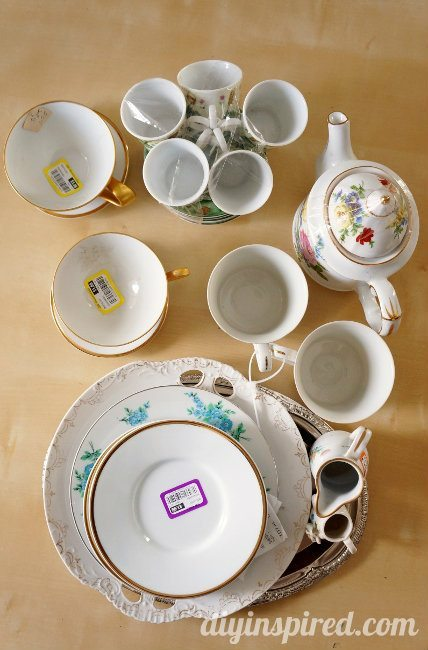 thrift store tea cups