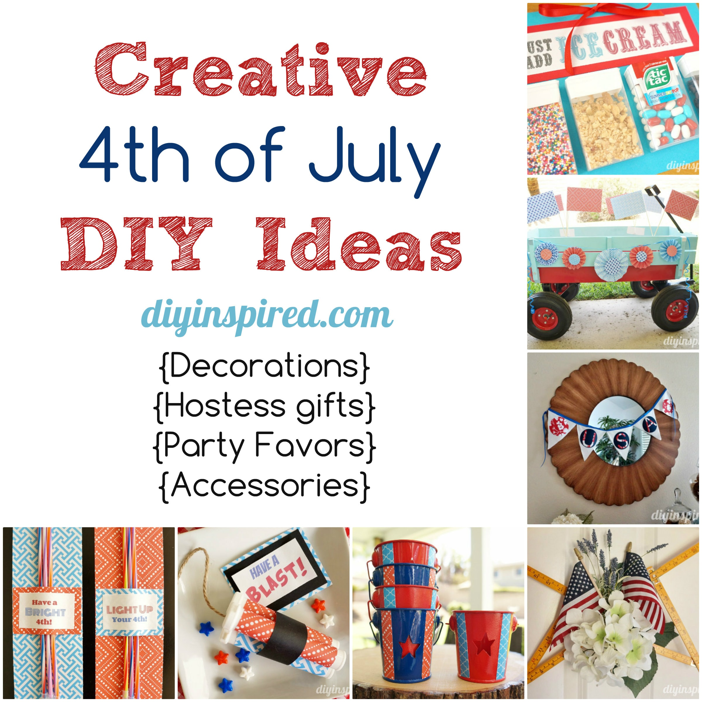 Creative Fourth Of July Diy Ideas Diy Inspired
