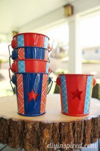 DIY Mod Podge Patriotic Tea Lights