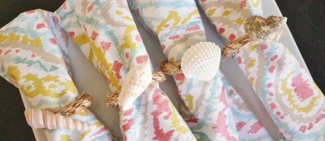 Easy Beach DIY Napkin Rings