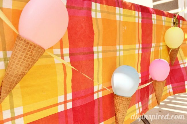 Easy Ice Cream Party Decorations DIY