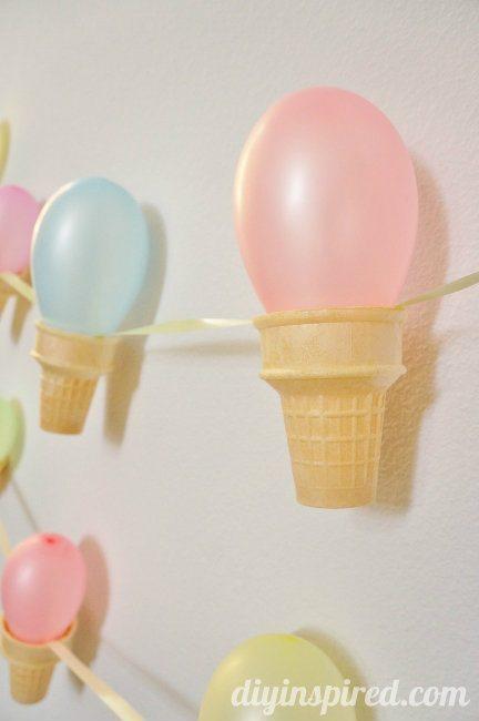 Ice cream cone party banner diy diy inspired