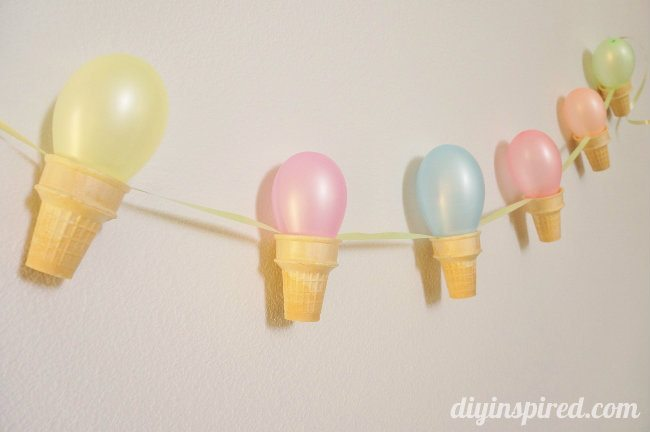 Ice Cream Cone Party Banner DIY (7)