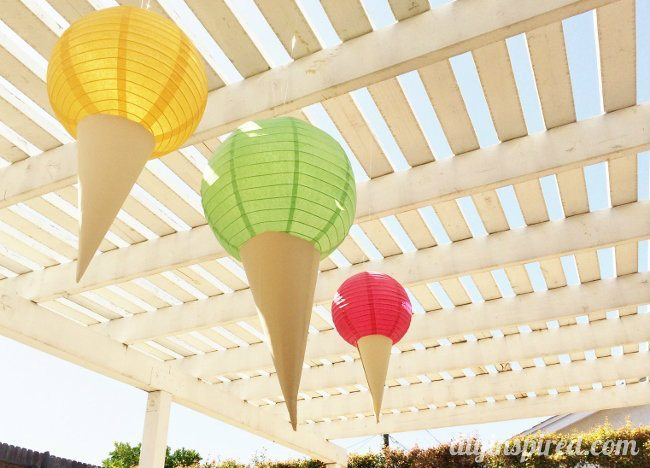 Ice Cream Party Decorations DIY (2)