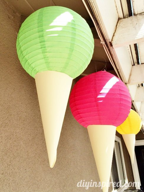 Ice Cream Party Decorations DIY (3)