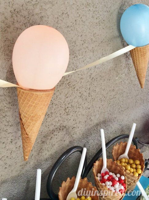 Summertime Ice Cream Party DIY Ideas - DIY Inspired