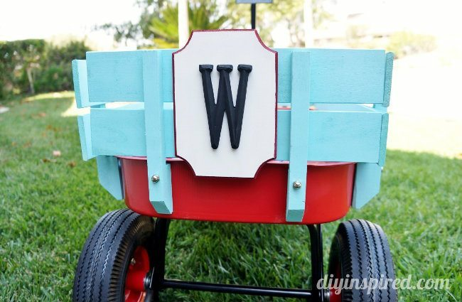 Monogram Wooden Wagon Plaque DIY (4)