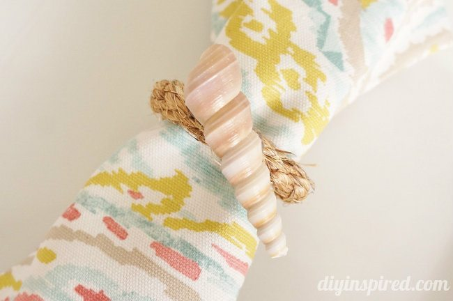 Shell DIY Napkin Rings
